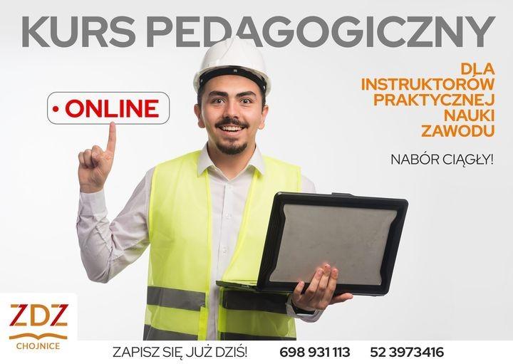 Kurs pedagogiczny dla instruktorów praktycznej nauki zawodu – ONLINE
