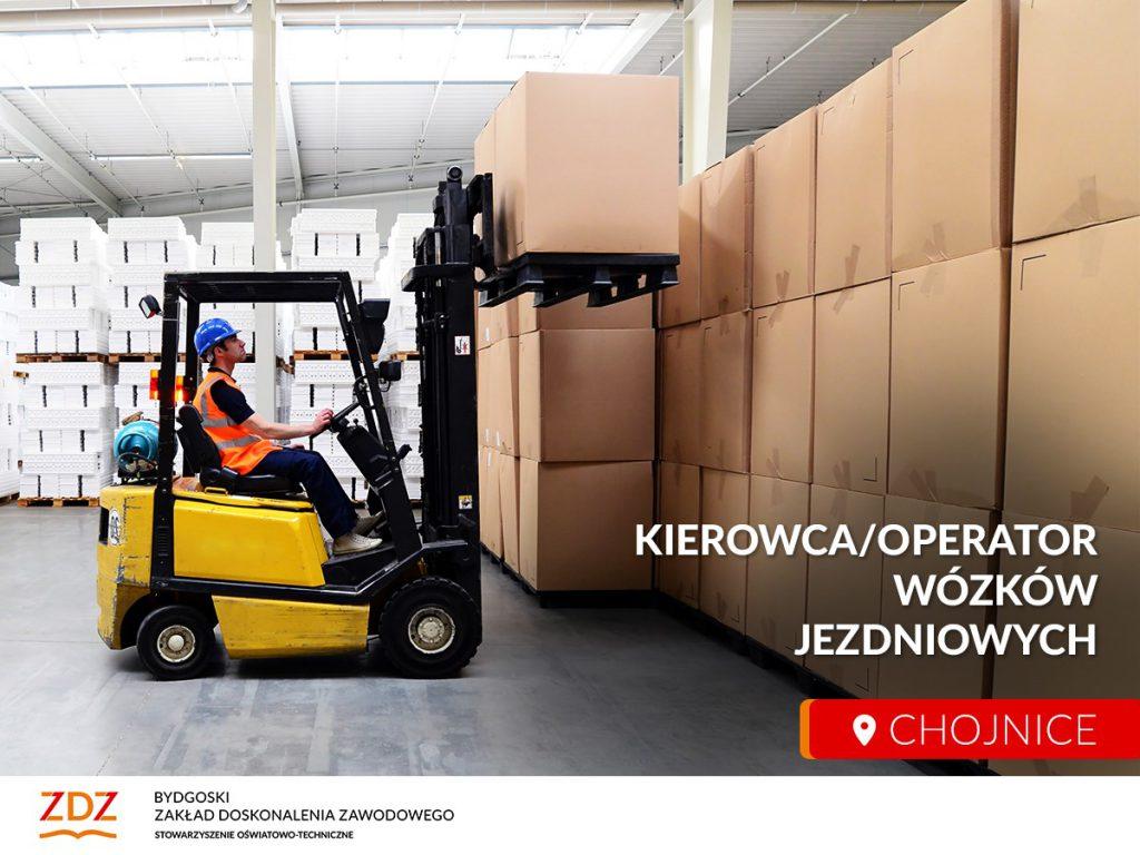 """Kurs """"Kierowca operator wózków jezdniowych"""" online/stacjonarnie"""